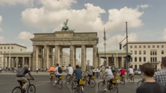 Time lapse of Brandenburg Gate TV Tower in Berlin, Germany. Stock Footage