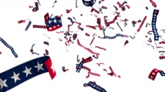 Ticker tape stars and stripes US USA America presidential election patriotic 4k Stock Footage