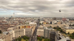 Time lapse, roof top view of city center (mitte) in Berlin, Germany. Stock Footage