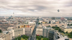 Time lapse, Roof top Panoramic view of Leipziger street (Mall of Berlin). Stock Footage
