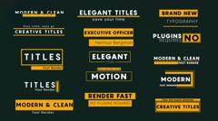 15 Minimal Titles v3 Stock After Effects