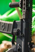 Automatic weapon closeup Stock Photos