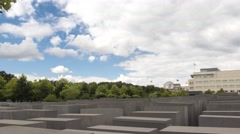 Time lapse of Memorial to the Murdered Jews of Europe in Berlin, Germany. Stock Footage