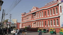 Railways station with traffic,Indore,India Stock Footage
