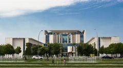 Time Lapse of Bundeskanzleramt in Berlin, Germany Stock Footage
