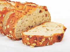 Wholegrain Bread With Oats And Nuts Stock Photos