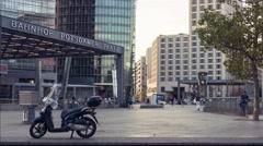 Time Lapse of Potsdamer Platz railway station in Berlin, Germany. Stock Footage