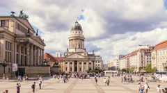 Time Lapse of Concert Hall (Konzerthaus) at Gendarmenmarkt square in Berlin. Stock Footage