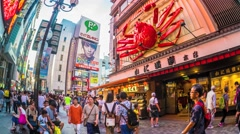 Namba area in Osaka, Japan Stock Footage