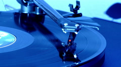 Tonearm on a long playing record (LP). Stock Footage