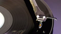 Tonearm on long playing record (LP), with vinyl movement. Stock Footage