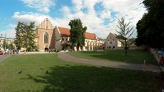 Catholic church of St. Francis of Assisi. Krakow. Poland. 4K. Stock Footage