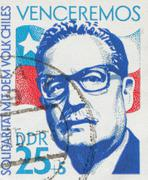 GERMAN DEMOCRATIC REPUBLIC - CIRCA 1973: stamp showing an image of president Stock Photos