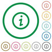 Information outlined flat icons Stock Illustration