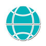 Global communication internet design Stock Illustration