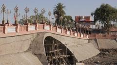 Bridge to Vikramaditya's Singhasan Battisi,Ujjain,India Stock Footage