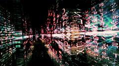 Traveling through a maze of data - Digital Graffiti 038 HD, 4K Stock Video Stock Footage