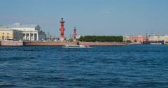 Saint-Petersburg. Russia. Vasilievsky island. Timelapse. Stock Footage