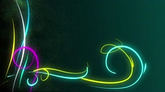 Glowing digital element background Stock Footage