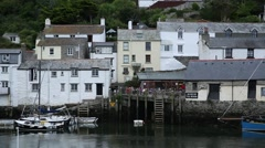 Colourful houses in a traditional English fishing village Stock Footage