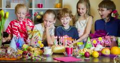 Long-Awaited Birthday Stock Footage