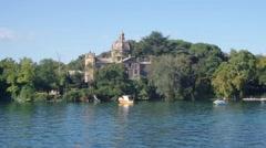 Bisentina Island Lake Bolsena Stock Footage