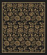Baroque and floral wallpaper Stock Illustration
