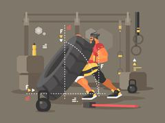 Workout concept illustration Stock Illustration