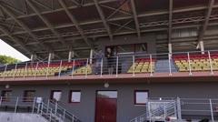 Sport fans on stadium Stock Footage