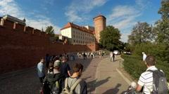Senator Tower of Wawel Royal Castle, Krakow, Poland. 4K. Stock Footage