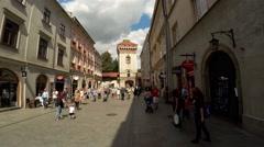 St. Florian's Gate or Florian Gate. Krakow, Poland. 4K. Stock Footage