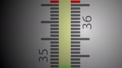 Thermometer, temperature rising Stock Footage