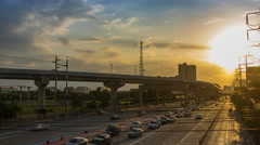 The Traffic evening before sunset. Stock Footage