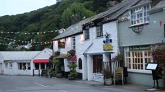 Traditional English restaurants in Cornwall Stock Footage