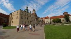Wawel cathedral on Wawel Hill in Krakow, Poland. 4K. Stock Footage