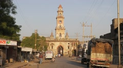 Backside of Sardar Patal gate,Junagadh,India Stock Footage