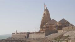 Somnath temple,Veraval,Somnath,India Stock Footage