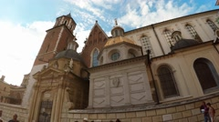 Wawel cathedral on Wawel Hill in Krakow, Poland. 4K. Stock Footage