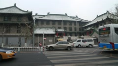 Peking Union Medical College Hospital,winter scenery Stock Footage