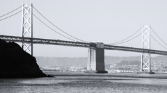 Bay Bridge, San Francisco, California Stock Footage