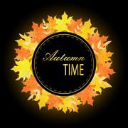 Universal autumn design with seasonal maple leaves. Fall leaves banner with Piirros