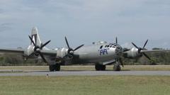 B-29 World War II bomber Stock Footage