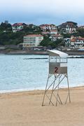 Saint-Jean-de-Luz sand beach in France Stock Photos