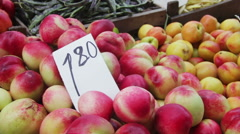 Showcase Fruits And Vegetables Stock Footage