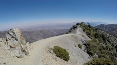 Mt Baldy California Devils Backbone Trail Moving Time Lapse Stock Footage