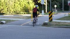 Agile urban cyclist Stock Footage