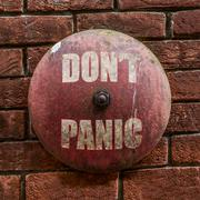 Grungy Dont Panic Bell Kuvituskuvat