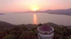 Big forest around Khao Khad view point Stock Footage