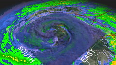 Hurricane Gustav 3D Eye Stock Footage