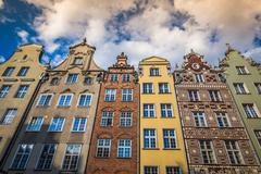 Beautiful architecture of the old town of Gdansk, Poland. Stock Photos